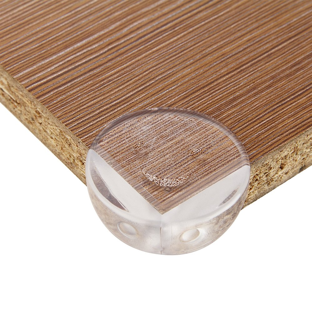 Refaxi 4Pcs Clear Table Desk Corner Edge-Guard Cushion Baby Safety Bumper Protector #2