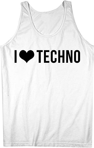 Love Music I Uomo Techno Tank Top Bianca Canotta Xx LargeAmazon it K1FJcl