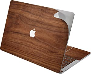 "Cavka Vinyl Decal Skin for Apple MacBook Pro 13"" 2019 15"" 2018 Air 13"" 2020 Retina 2015 Mac 11"" Mac 12"" Real Sticker Texture Laptop Print Walnut Natural Protective Pattern Elegant Cover Wood Design"