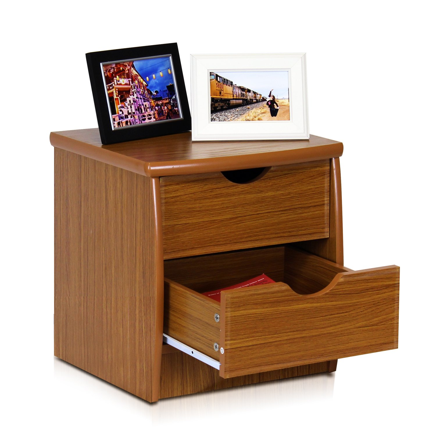 Furinno FNAK-11173EX Simple Design Bedside 2-Drawer Chest, Cherry by Furinno (Image #4)