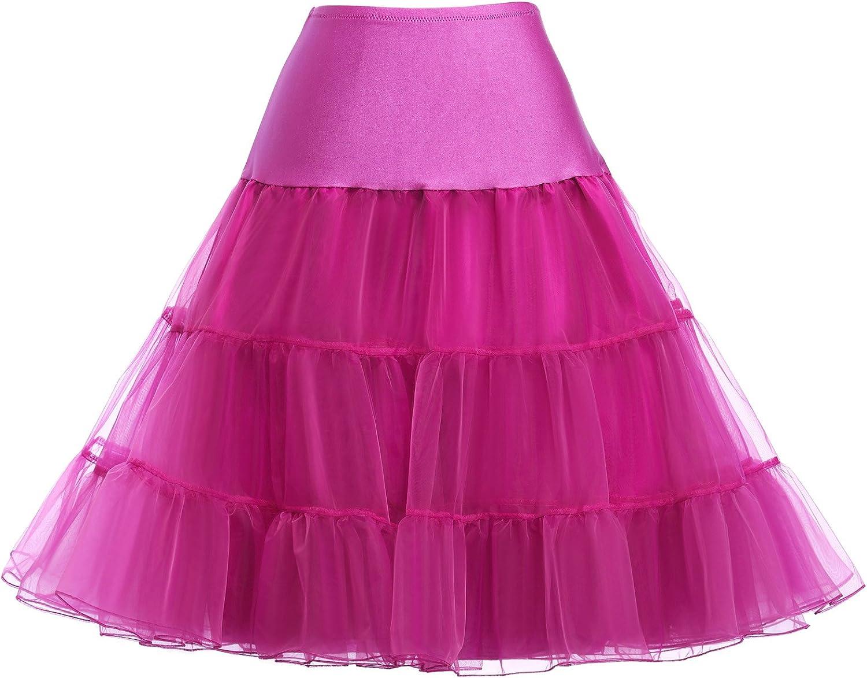 GRACE KARIN Womens 50s Vintage Petticoat Crinoline Tutu Skirts Underskirt Slips for Party 24 Colors S-XXXXL