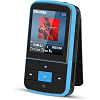 AGPTEK G15 16GB Bluetooth 4.0 MP3 Player, Wearable Clip Supports Playlist FM Radio with Sport Armband, Expandable Up to…