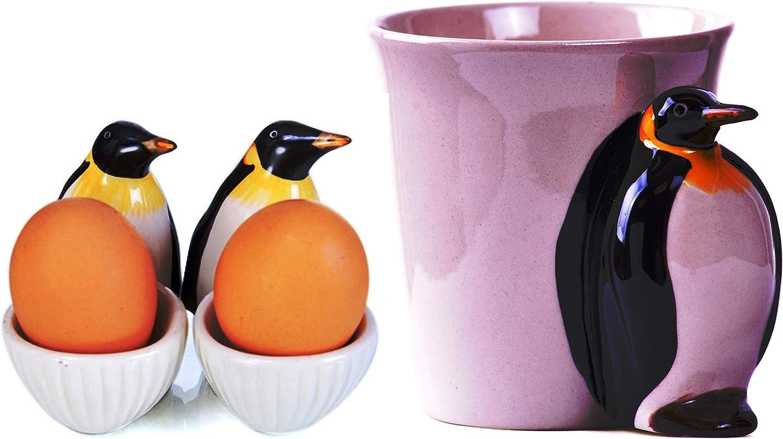 b2see Penguins Penguin Penguin Egg Cup Egg Cup Model Set of 2