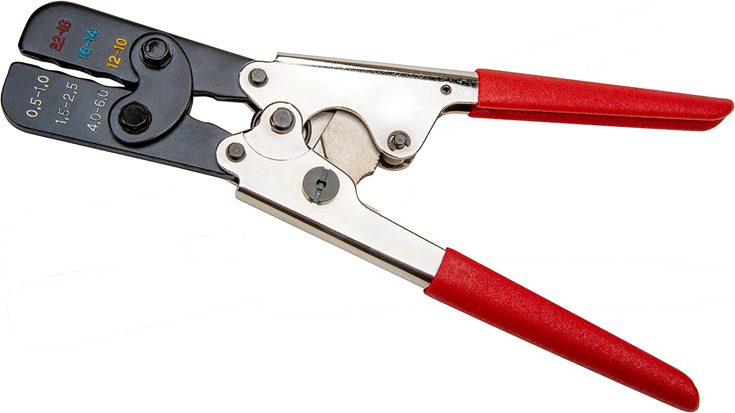 Master Appliance 35084 Full Cycle Ratcheting Wire Terminal Crimp Tool, For Heat Shrink Connectors