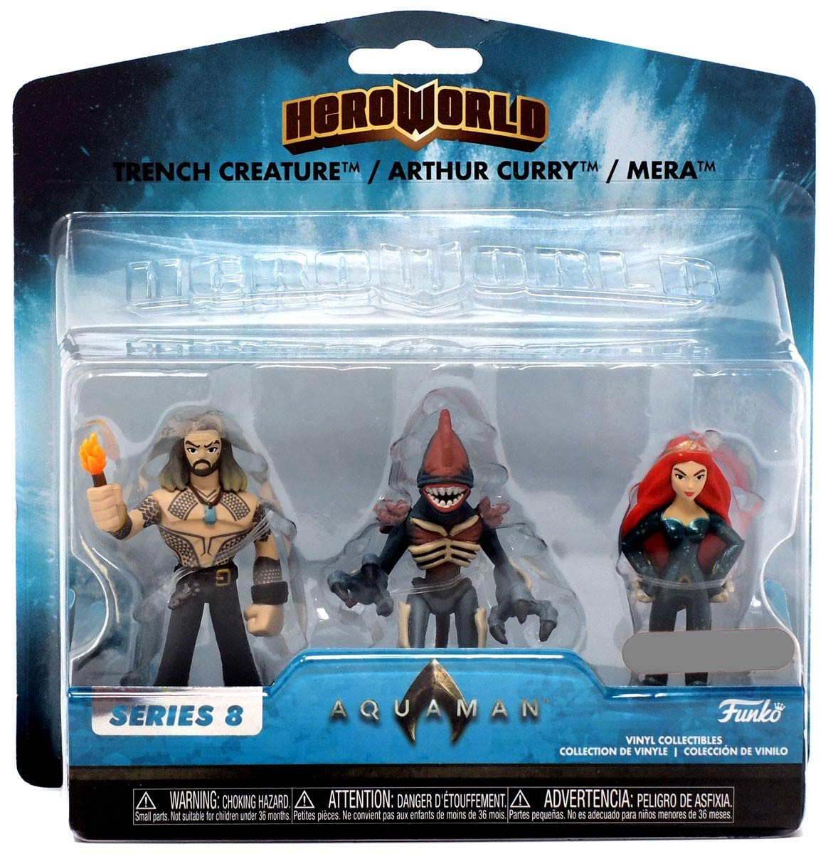 Amazon.com: Funko Hero World - Aquaman Movie [Series 8] - Trench Creature / Arthur Curry / Mera [3 Pack] - Target Exclusive: Toys & Games