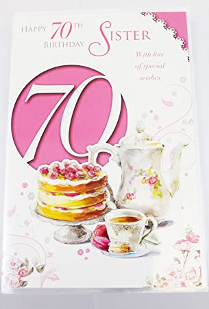 70th Sister Birthday Card