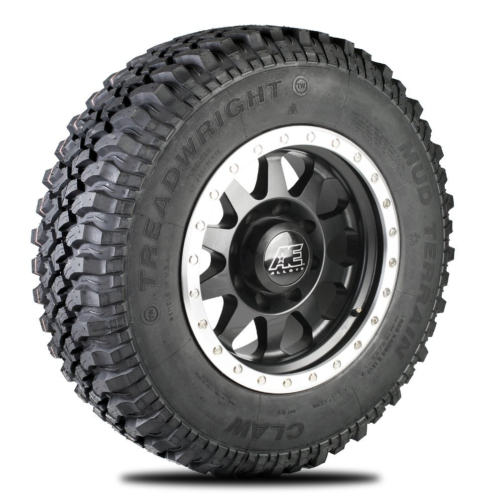 TreadWright CLAW M/T Tire - Remold USA - LT265/70R17E Premiere Tread Wear (40,000 miles)