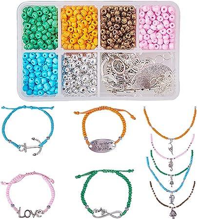 5 x Aqua-Marie Poisson//perles de verre de Bohême