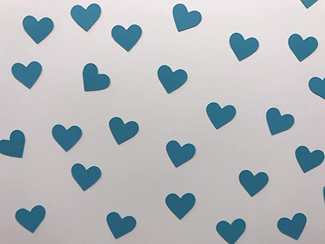 Amazon Teal Heart Confetti Teal Decorations Heart Confetti