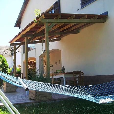 Onlywood Pérgola Gazebo Profesional endosada 4 x 2 – Capacidad 90 kg/m2. Madera tratada en Autoclave con certificación Clase 4 – Duración 15 años Producción Italiana – también a Medida: Amazon.es: Jardín