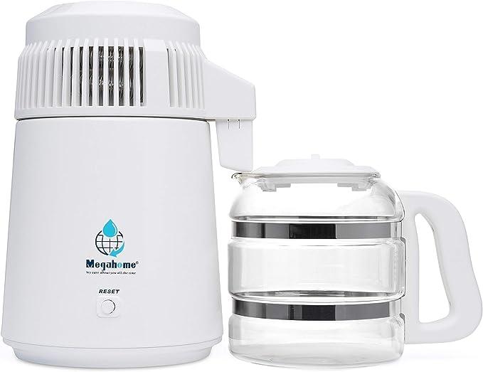 Megahome encimera agua Destilador, color blanco, cristal colección por Megahome: Amazon.es: Hogar