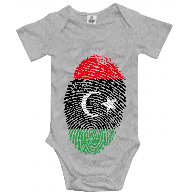 Qilrocm Greece Flag Fingerprint Short Sleeve Infant Baby Girl Clothes One-Pieces Bodysuit Romper Jumpsuit Unisex