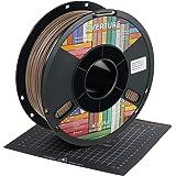 OVERTURE PLA Matte Filament 1.75mm with 3D Printer Build Surface 200mm x 200mm, Matte PLA Roll 1kg Spool (2.2lbs), Dimensiona