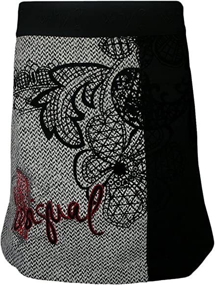 DESIGUAL Mujer Diseñador Falda Vestido - BALI -44: Amazon.es: Ropa ...