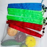 Bolsas de malla reutilizables para primeos de primera calidad,lavables,ecológicas,con peso en tara en etiquetas para almacenamiento de comestibles,frutas,verduras y juguetes,Set of 12PCS Textura de copo de nieve