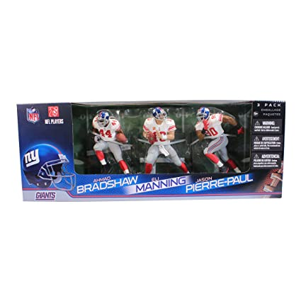 a01cf96fe Image Unavailable. Image not available for. Color  McFarlane Toys NFL New  York Giants 3 Pack - Eli Manning ...