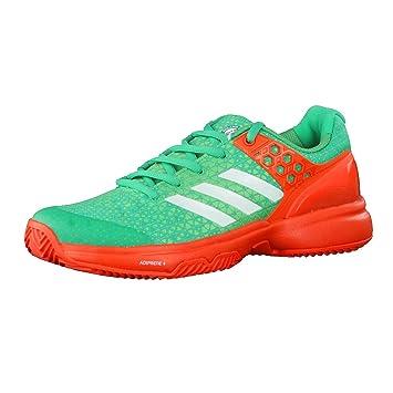 adidas Damen Tennisschuhe Ubersonic 2 W Clay CORGRN/FTWWHT/ENERGY 37 1/3
