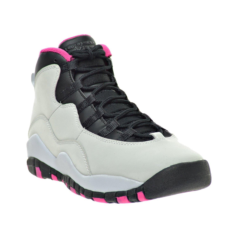6b7c3d70755 Amazon.com   Jordan Air 10 Retro (GS) Girl's Shoes Pure Platinum/Vivid Pink/Black  487211-008   Basketball