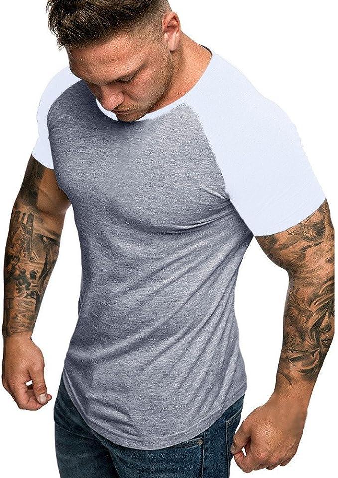 Camiseta de Manga Corta con Cuello en V para Hombre de Camuflaje ...