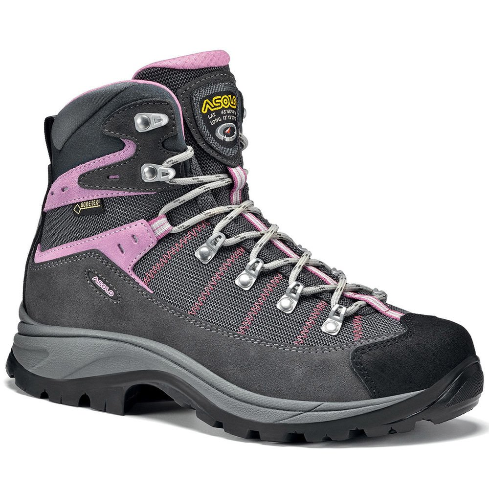 ASOLO Women's Revert GTX Hiking Boots, Grey/Gunmetal Black 9.5