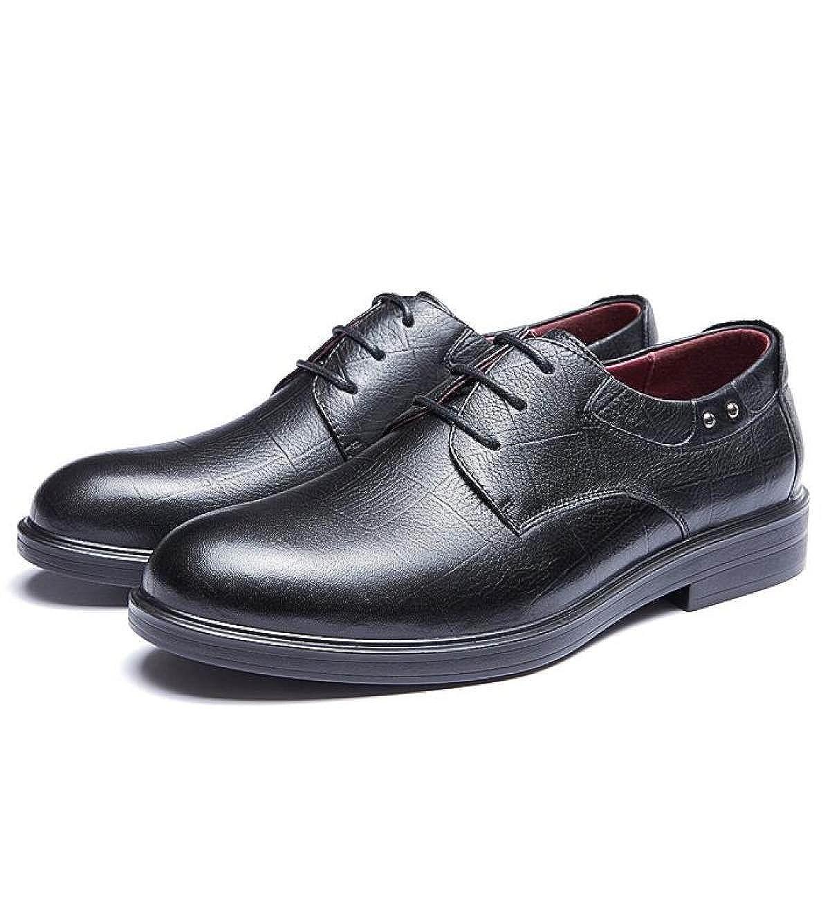 LEDLFIE Business Formalwear Schuhe Jugend Männer Mode Rutschfeste Spitze Jugend Schuhe schwarz 3705cb