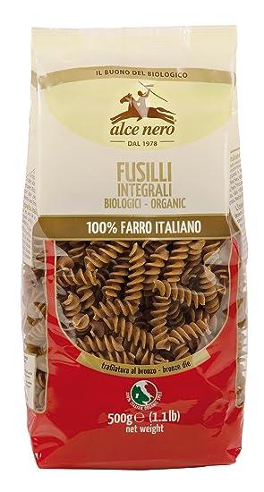 Alce Nero Fusilli de Espelta Integral - Paquete de 12 x 500 gr - Total: