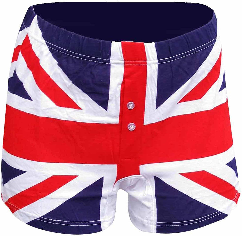 3M Calzoncillos Tipo bóxer para Hombre con Bandera de Reino Unido (100% algodón, Tallas S a XL), Hombre, BOXERS2 White FBA, Multicolor, Small: Amazon.es: Deportes y aire libre