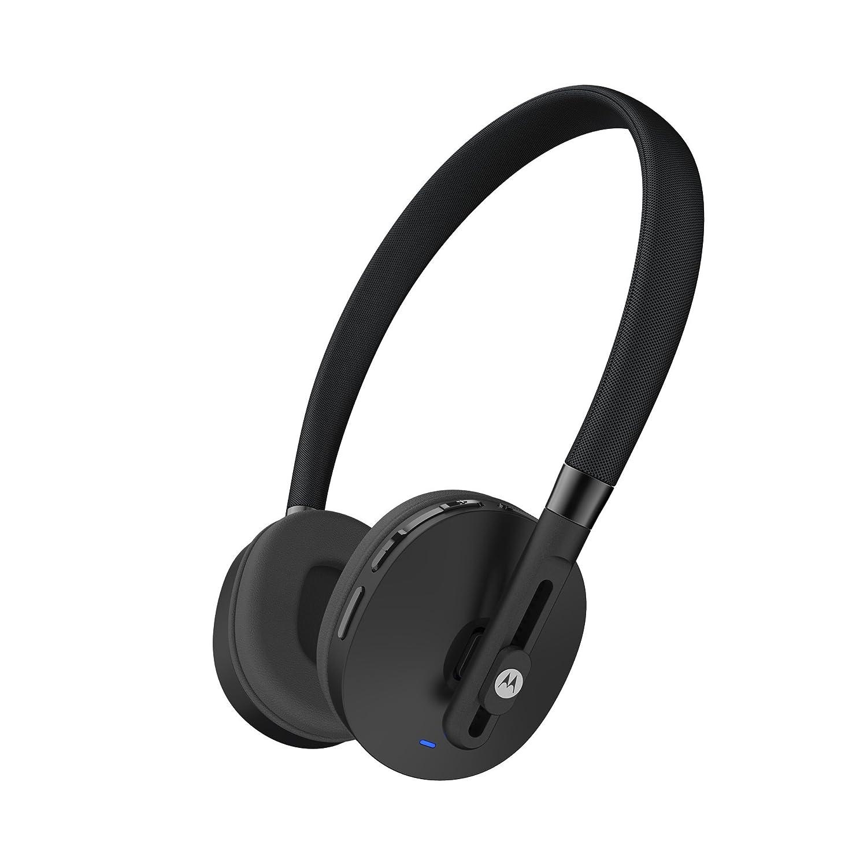 motorola wireless headphones. motorola pulse wireless on-ear headphone - black: amazon.co.uk: electronics headphones o