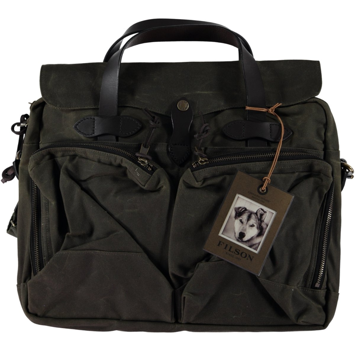 Filson Unisex 24 Hour Tin Briefcase Otter Green Briefcase by Filson