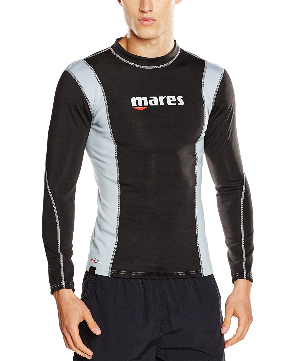 Mares Men's Fire Skin Long Sleeve Shirt Watersport Protection Gear, Small