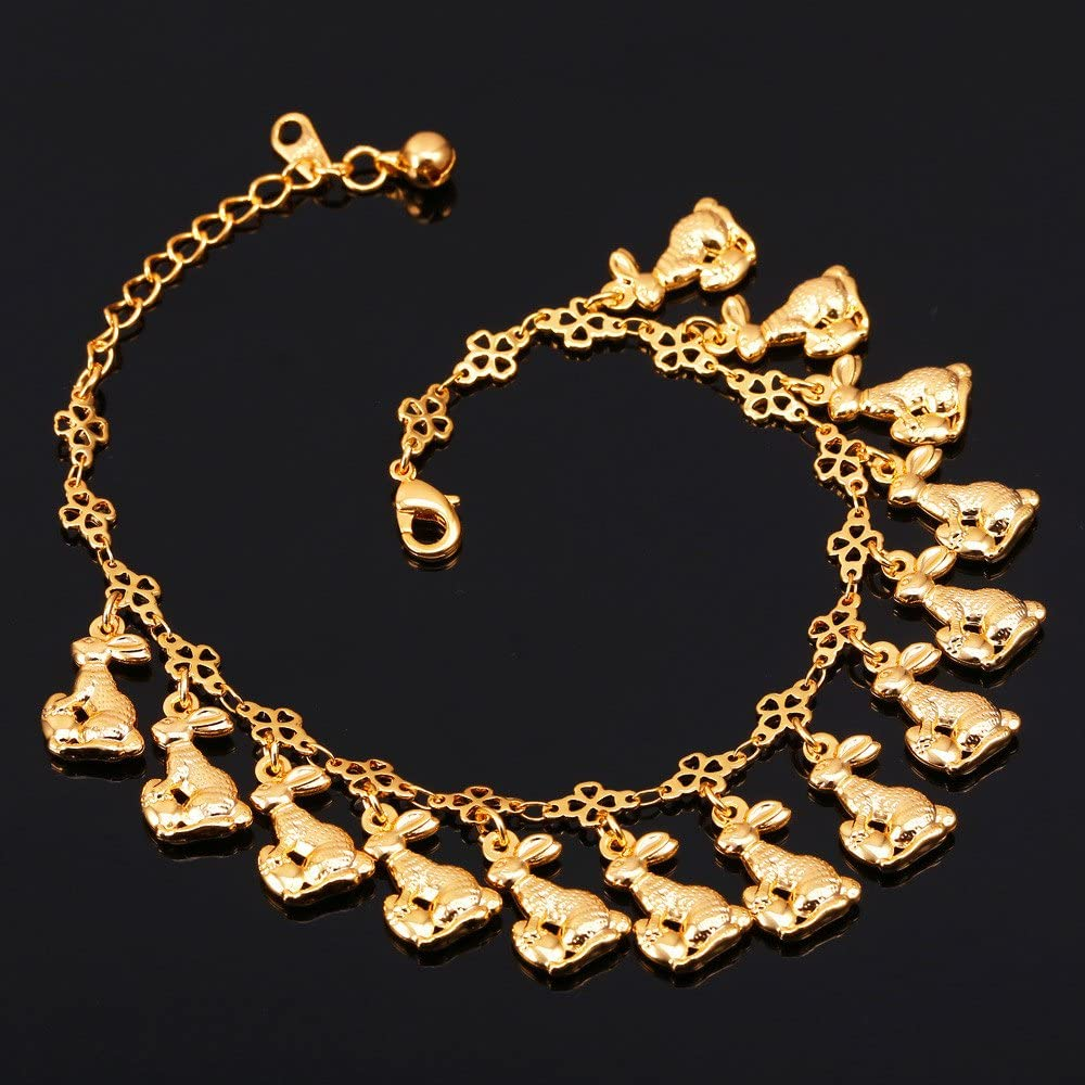 25-30 cm Long U7 Women Girls Barefoot Jewelry 18K Gold or Rose Gold Stainless Steel Infinity//Heart Charm//Rope//Figaro//Cuban Chain Anklet Foot Bracelet