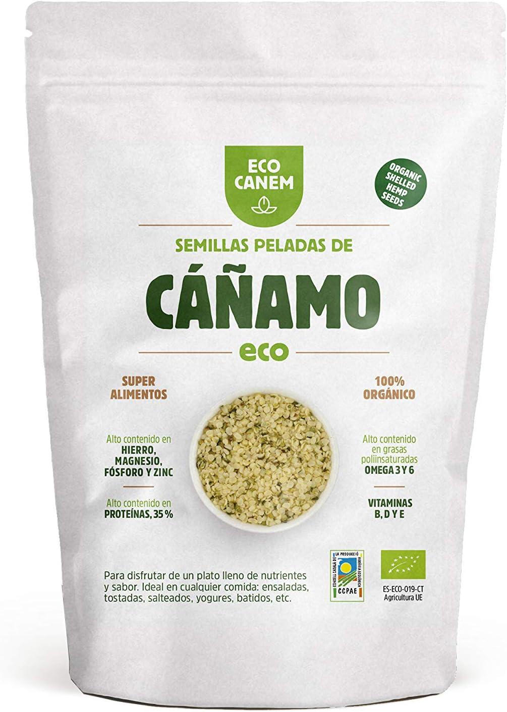 Semillas peladas de cáñamo BIO. 100% Vegano. Raw. 1 Kg.: Amazon.es ...