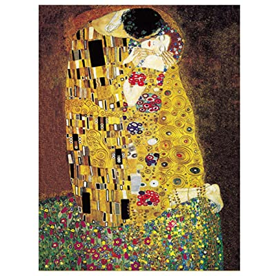 "[Chamberart] 1000 Piece Premium Jigsaw Puzzles ""The Kiss"" A-1067 By Gustav Klimt: Toys & Games"