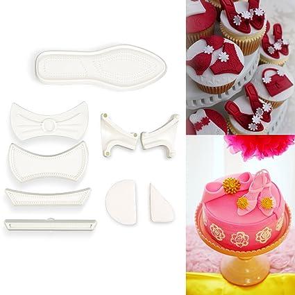 Moldes Zapato Mujer Kit Molde De Fondant Cortador Tous Para Cle XwZ0W