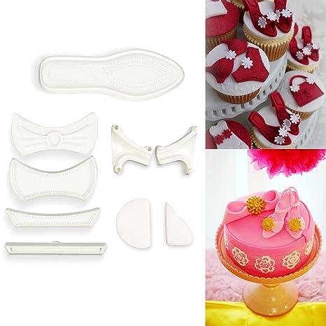 CLE DE TOUS - Kit molde cortador zapato de mujer Moldes para fondant (9 piezas