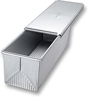product image for USA Pan Bakeware Pullman Loaf Pan with Cover, 13 x 4 inch, Nonstick & Quick Release Coating, Made in the USA from Aluminized Steel