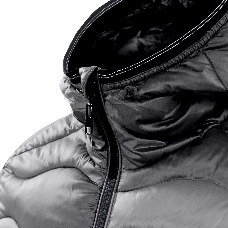 Ciabal/ù Giubbotto con Cappuccio Uomo Invernali Piumino Impermeabile Bomber Imbottito Lucido Invernale Casual Giacca Slim Fit con Cappuccio Blu Grigio Nero Caldo Giubbino Trapuntato Corto