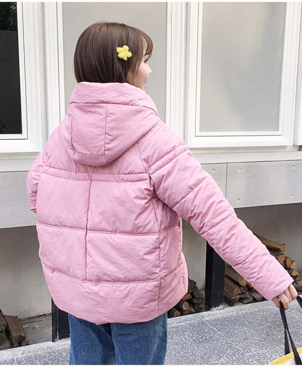 EIJFKNC Giacche Giù Giacche Lunghe Parka da Donna Giacche Giacca Giacca Corta Giacca Imbottita in Cotone Rosa