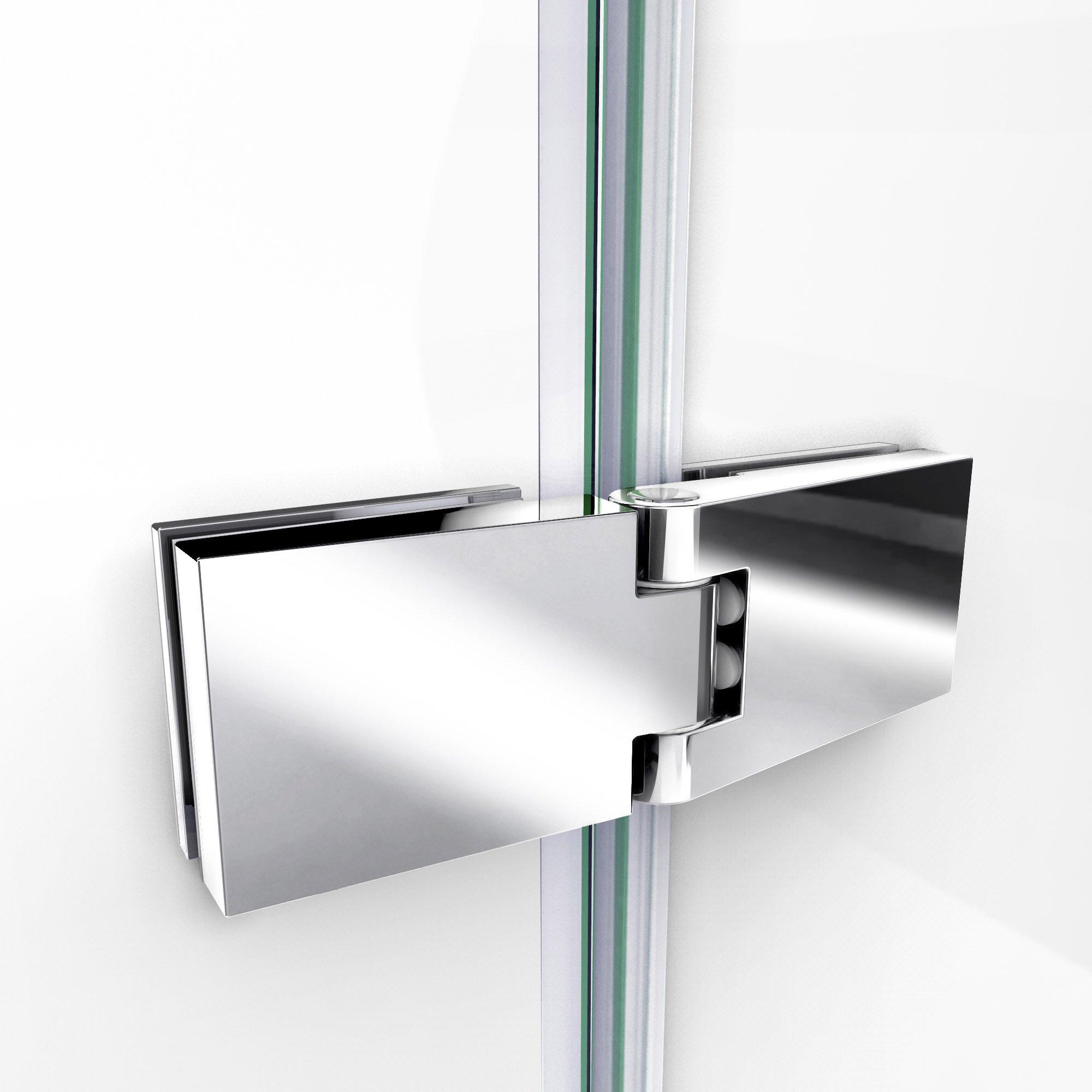 DreamLine Aqua Ultra 45 in. W x 72 in. H Frameless Hinged Shower Door in Brushed Nickel, SHDR-3445720-04 by DreamLine (Image #7)
