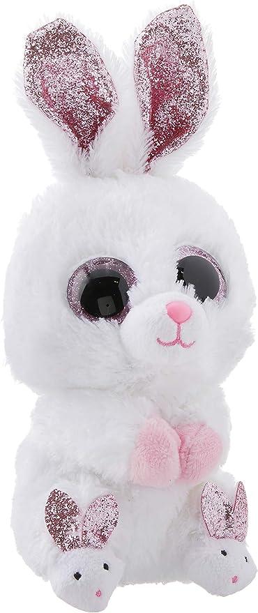 Ty Beanie Boos - Slippers The White Bunny (Glitter Eyes)(Regular Size - 6 inch)