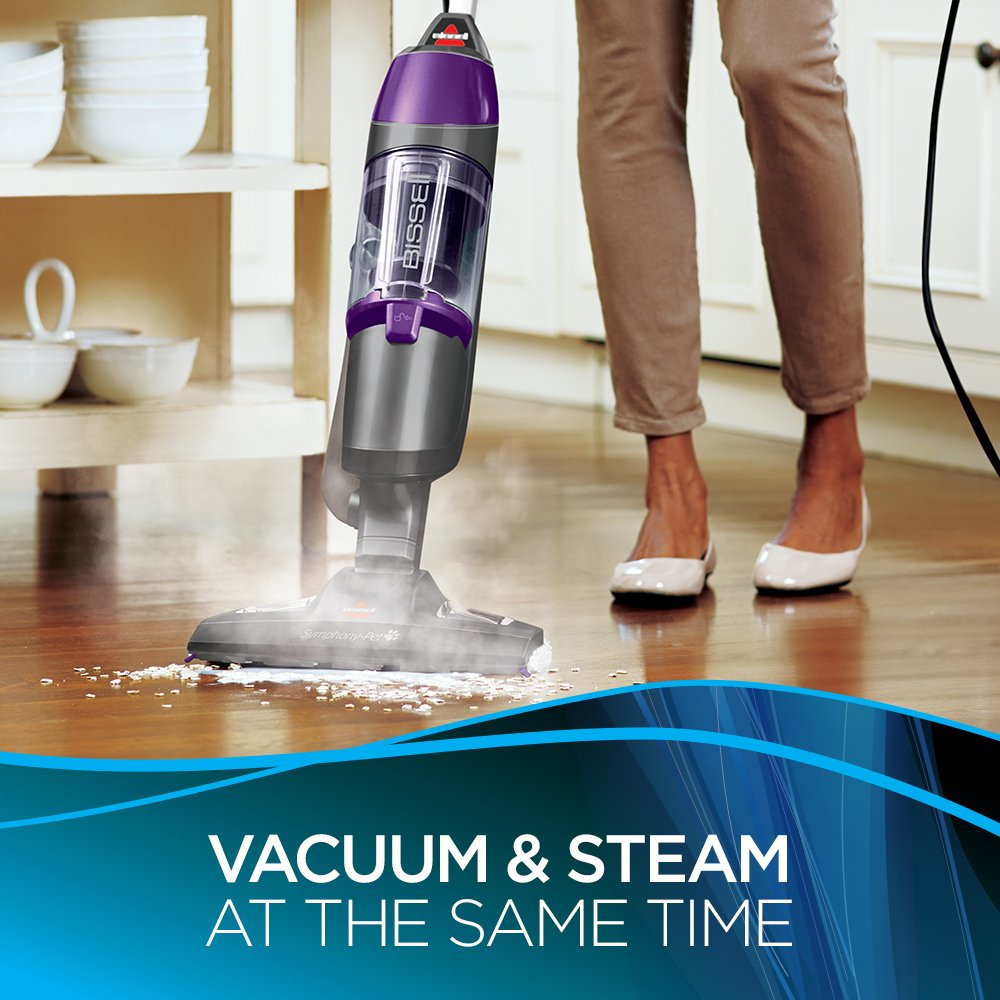Bissell Symphony Pet Steam Mop and Steam Vacuum Cleaner for Hardwood and Tile Floors, with Microfiber Mop Pads, 1543A by Bissell (Image #5)
