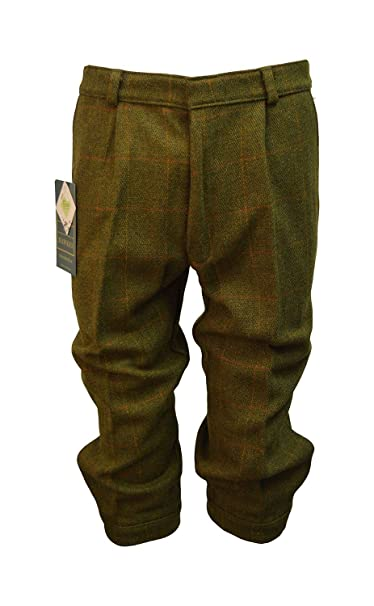 Men's Steampink Pants & Trousers Walker and Hawkes Mens Derby Tweed Shooting Plus Fours Breeks Trousers - Dark Sage $66.22 AT vintagedancer.com