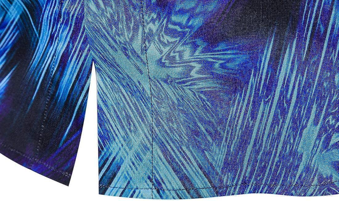 Mfasica Men Slim Casual Stretchy Spring//Autumn Long Sleeve Shirt