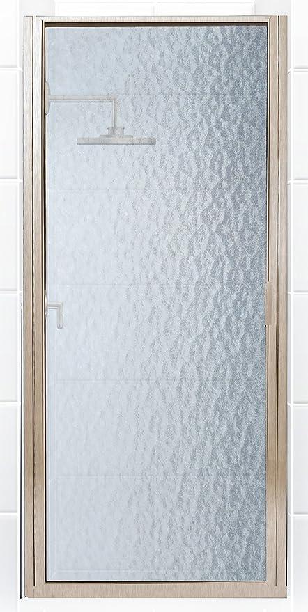 Brushed Nickel 23 X 65 Coastal Shower Doors Paragon Series Semi Frameless Continuous Hinge Shower Door In Clear Glass Pinnacleoilandgas Com