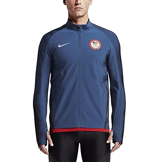 Nike Flex Team USA Men's Olympic Running Jacket Obsidian XL