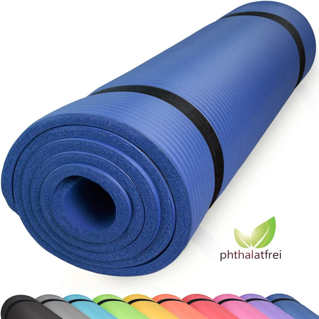 FLYONNO Tapis Yoga Antid/érapant,Tapis Fitness Epais avec Lignes dalignement du Corps eco Friendly Bodhi Yoga Mat 6mm TPE /Écologique Mat/ériaux 100/% Recyclables