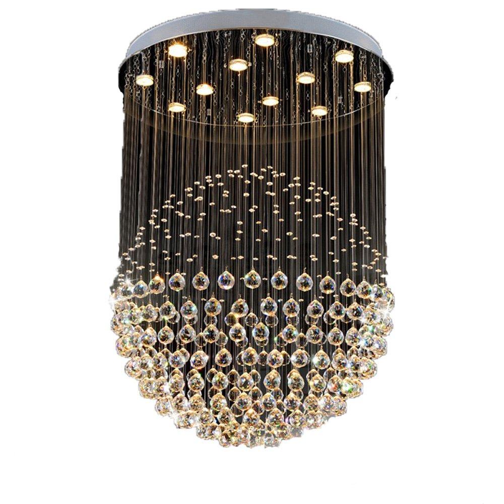 クリエイティブパーソナリティシンプルモダンk9クリスタルledシャンデリア、屋内ホームリビングルーム照明多次元acランプシーリングライト (サイズ さいず : 50 cm 50 cm) B07S3JQ1W9  50 cm 50 cm