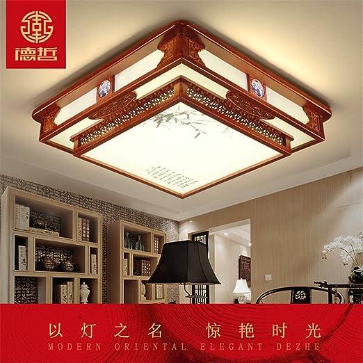 LED Moderno colgante de techo de montaje empotrado Accesorios luz luces led chino rectangular de luz ...