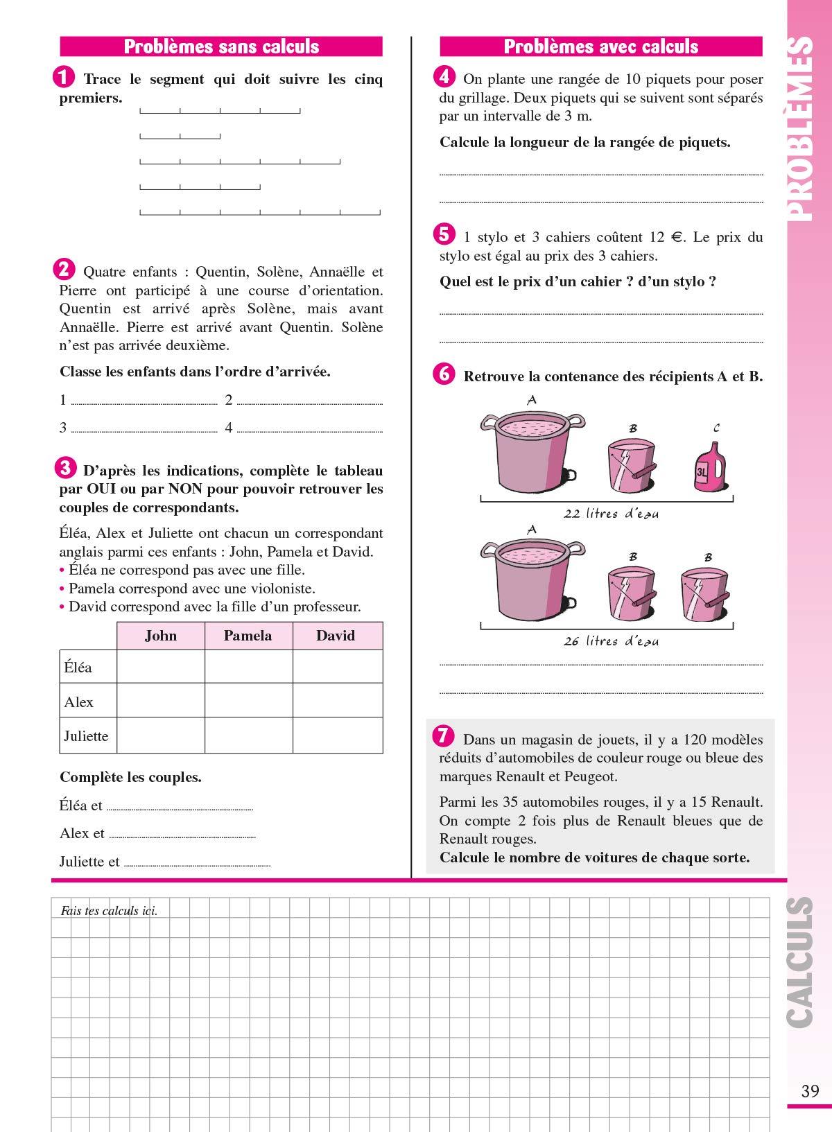 Les Cahiers Bordas Cahier De Problemes De Maths Cm1 Amazon Co Uk Charles Alain Blanchis Francoise Perroud Benoit 9782047351598 Books