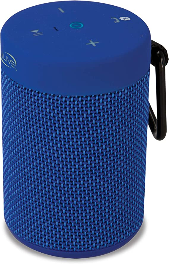 Ilive Waterproof Fabric Wireless Speaker 2 56 X 2 56 X 3 4 Inches Built In Rechargeable Battery Blue Isbw108bu Home Audio Theater Amazon Com